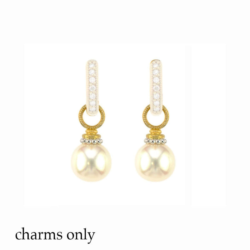 JudeFrances Earring Charms Pearl & 18k Earring Charms