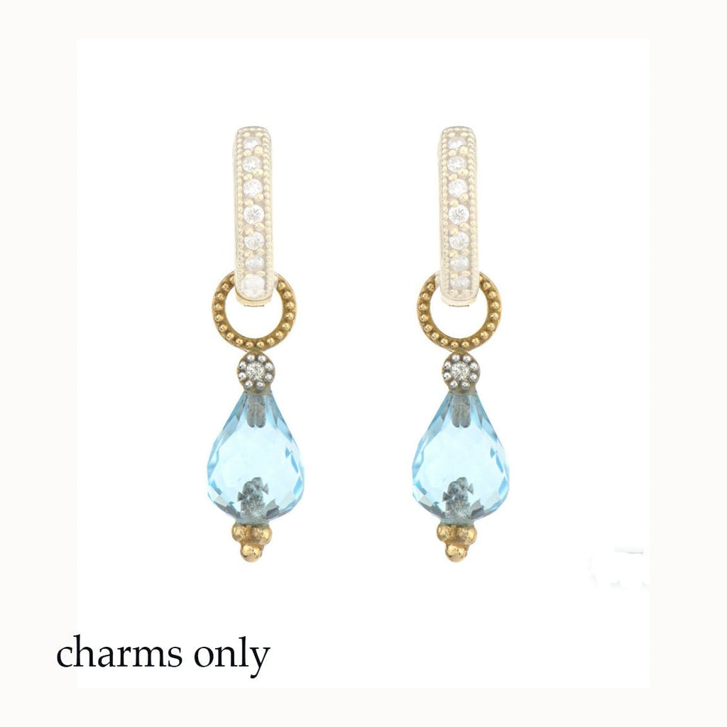 JudeFrances Earring Charms Topaz Pear 18k Earring Charms