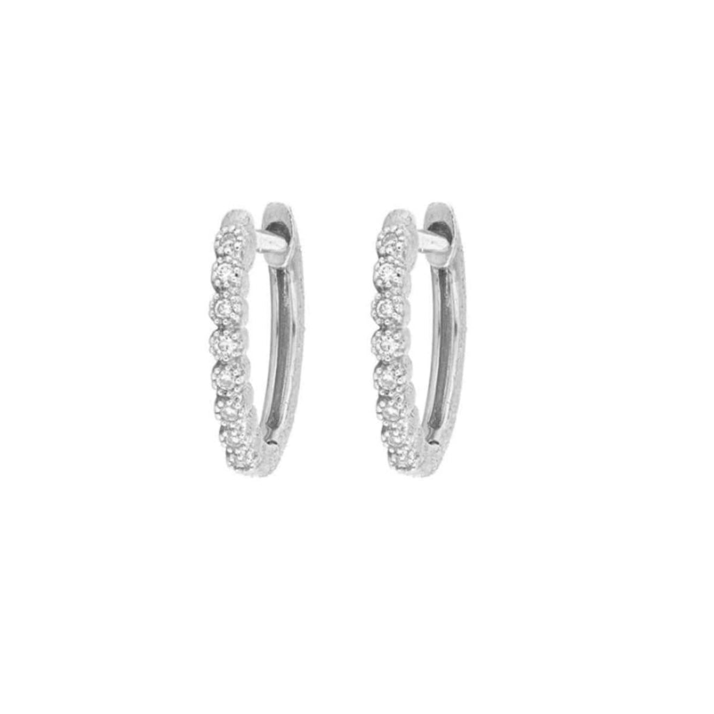 JudeFrances Earrings 18k White Gold Delicate Hoops