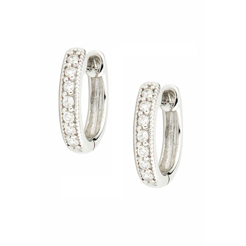 JudeFrances Earrings 18K White Gold Huggies