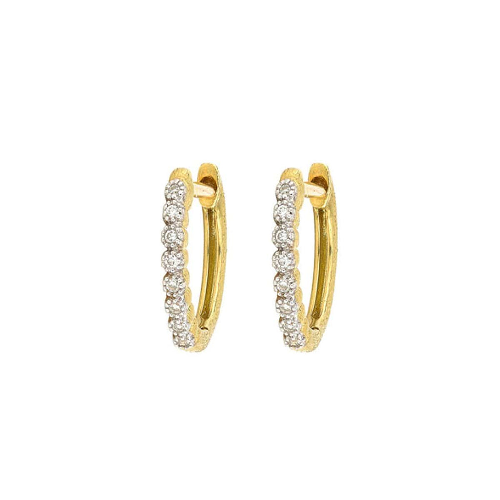 JudeFrances Earrings 18k Yellow Gold Delicate Hoops