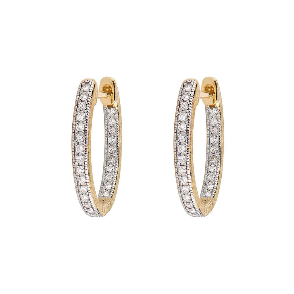 JudeFrances Earrings 18K Yellow Gold Oval Hoops