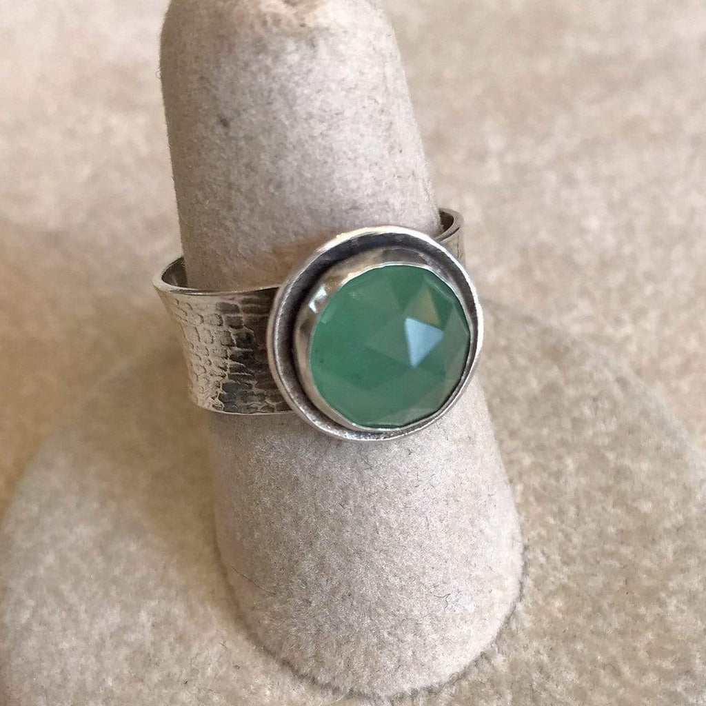 Phineas Rose Rings Rose-cut Aventurine & Sterling Ring