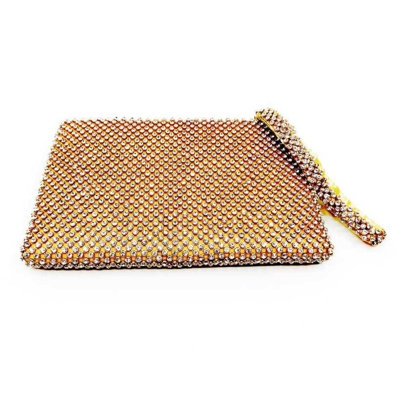 Sea Lily Purses Sparkle Gold Clutch Evening Bag
