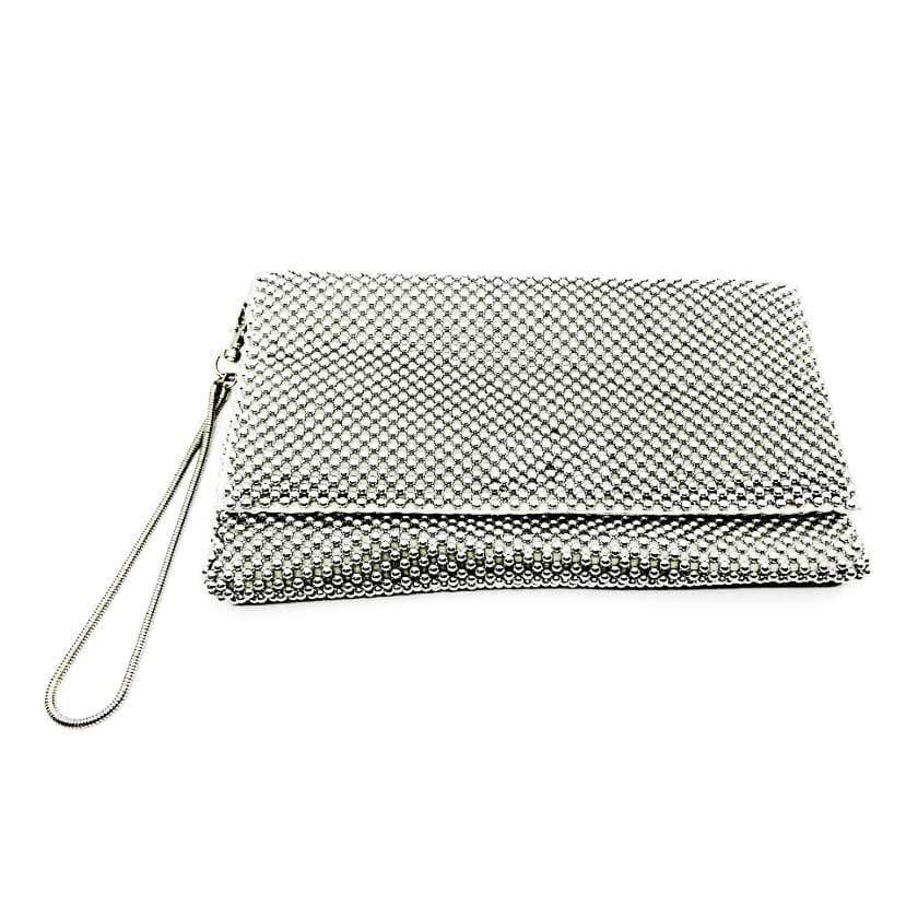 Sea Lily Purses Sparkle Silver Clutch Bag