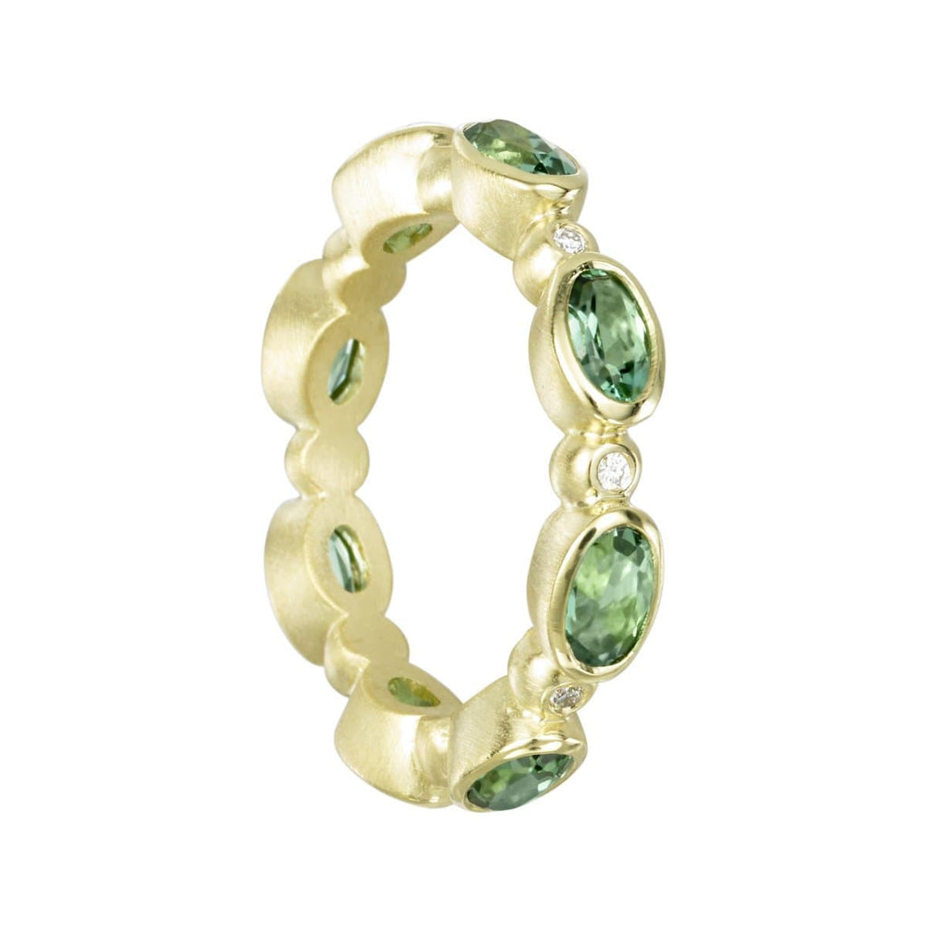 Suzy Landa Rings Green Tourmaline Diamond & 18k Ring