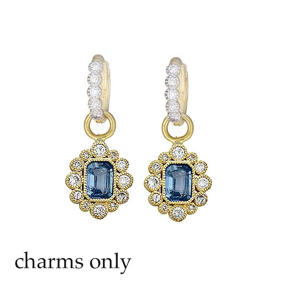 Tanya Farah Earring Charms Sapphire Diamond 18K Earring Charms