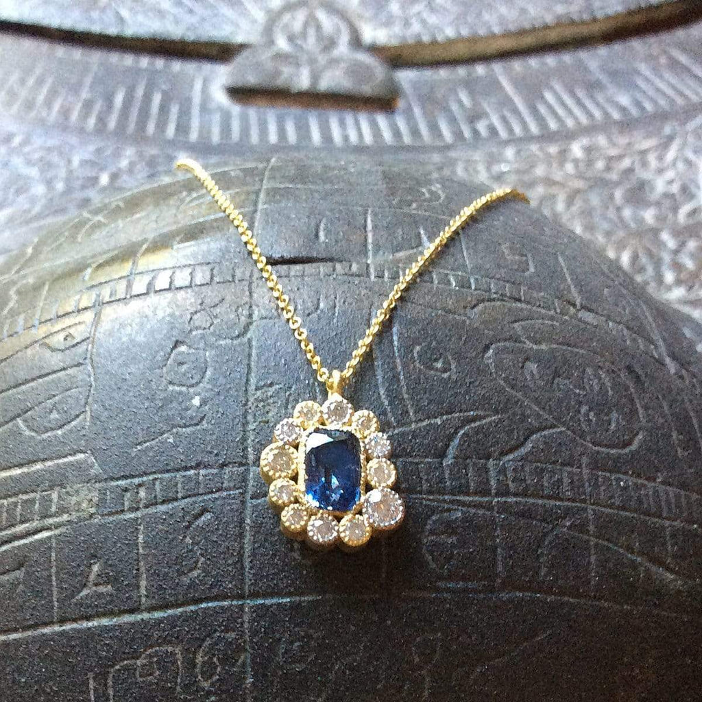 Tanya Farah Necklaces Sapphire Diamond 18K Necklace