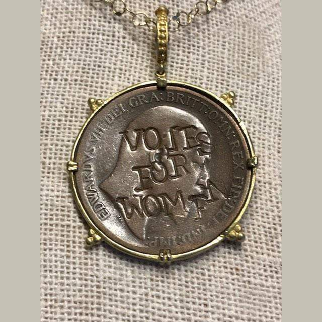 Tanya Farah Necklaces Suffragette 18k Coin Pendant