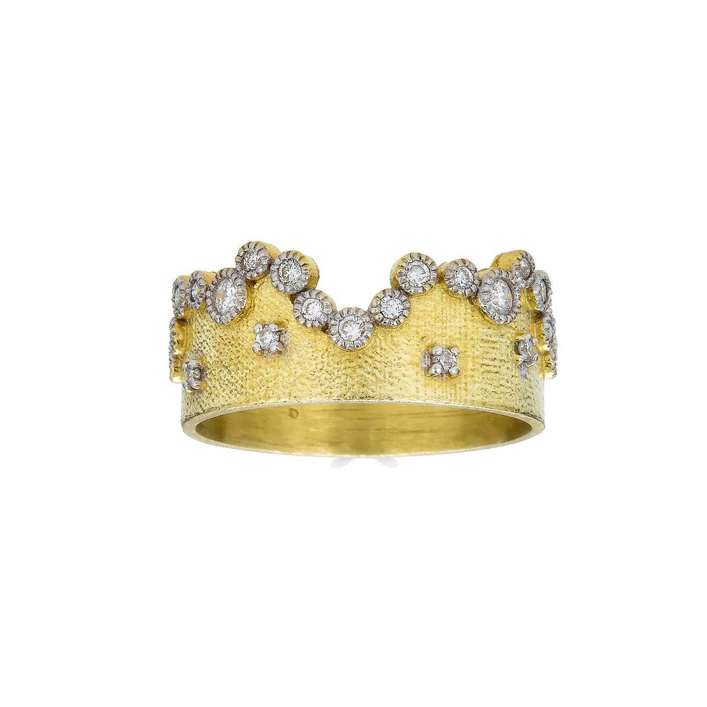 Tanya Farah Rings 18K Diamond Crown Ring
