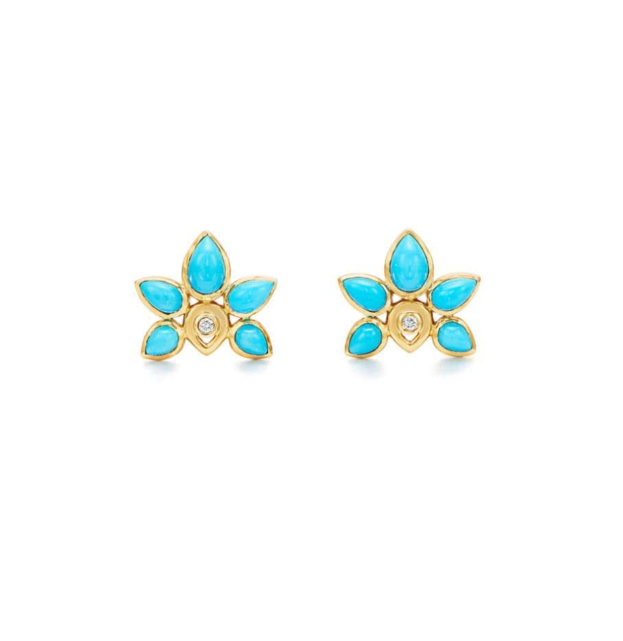 Temple St. Clair Earrings 18K Lotus Earrings