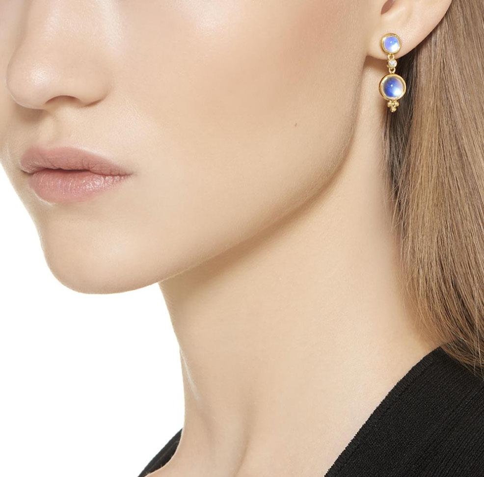 Temple St. Clair Earrings 18K Moonstone Drop Earrings
