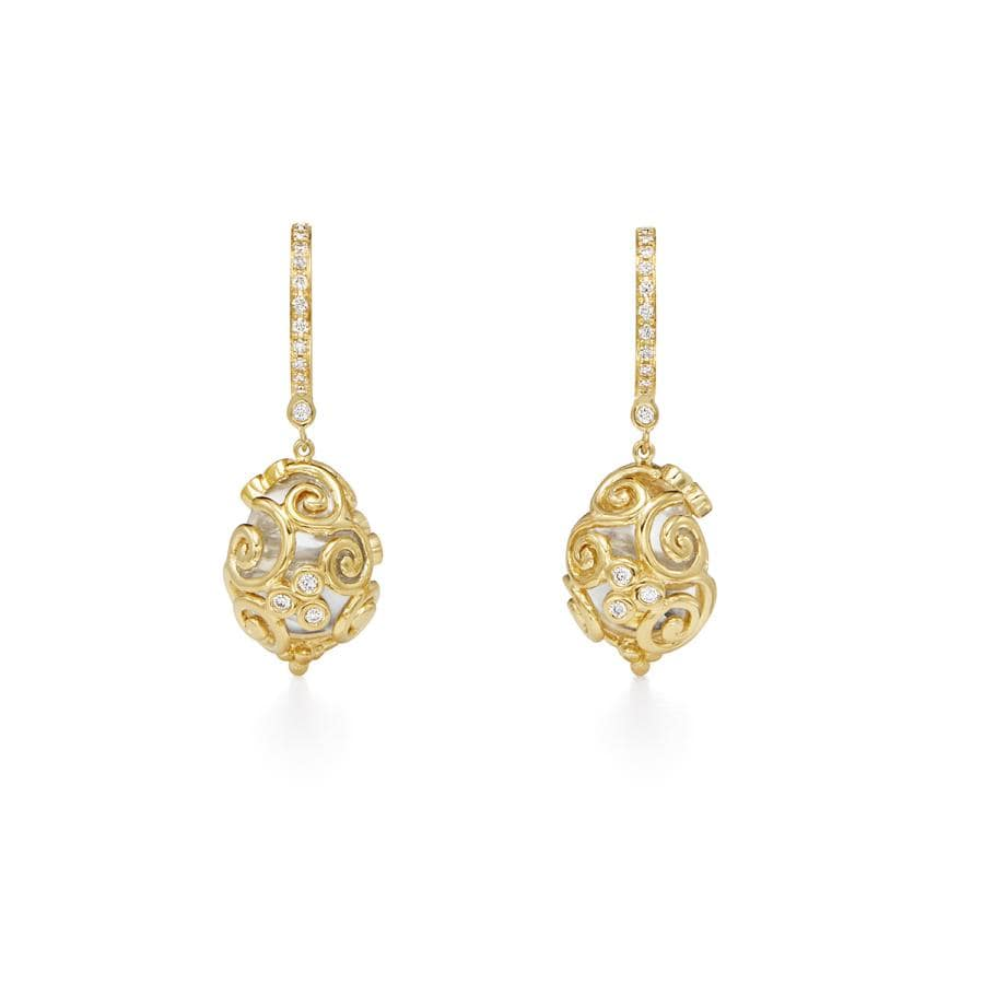 Temple St. Clair Earrings 18k Wrapped Amulet Earrings