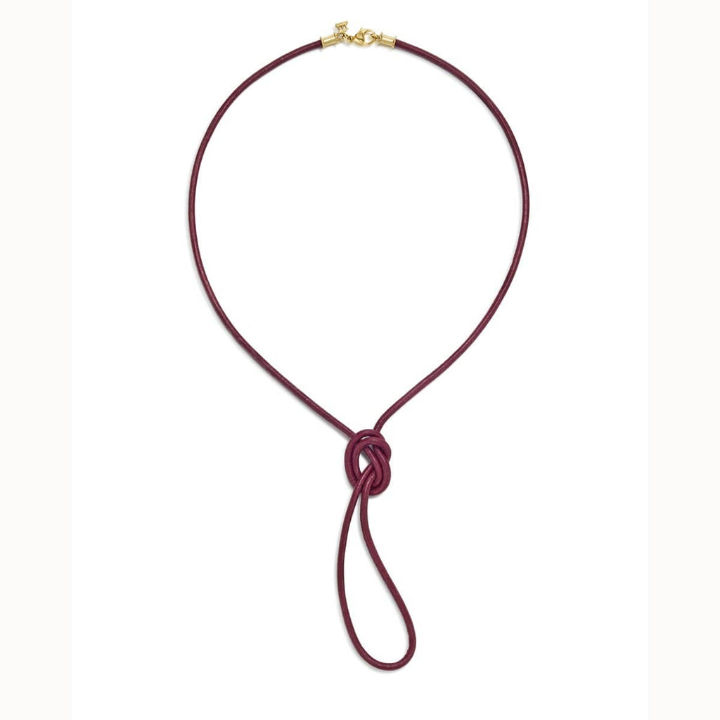 Temple St. Clair Necklaces 18K & Leather Crimson Cord