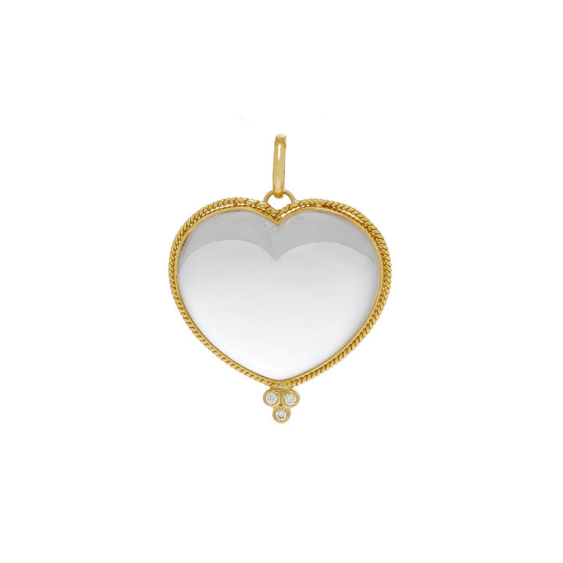 Temple St. Clair Pendants Large Crystal Heart pendant