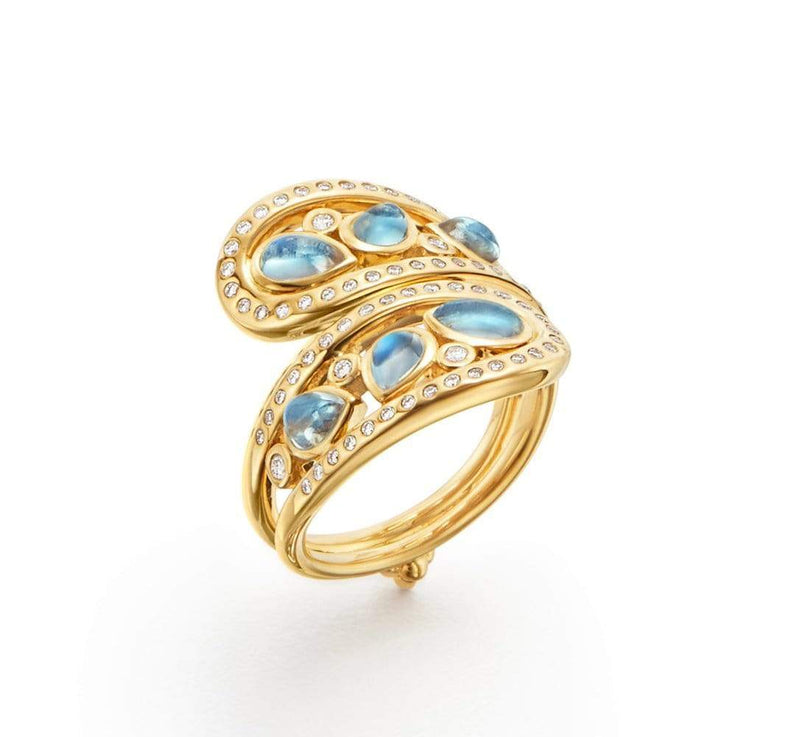 Temple St. Clair Rings Moonstone & Diamond Wrap Ring