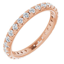 Load image into Gallery viewer, French Pavé Eternity Band in 14K