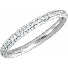 Load image into Gallery viewer, Diamond Pavé Eternity Band