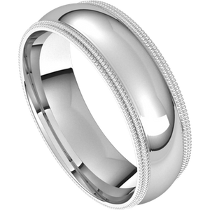 Double Milgrain Band - 6mm