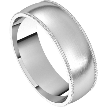 Milgrain Band -  6 mm