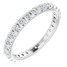 Load image into Gallery viewer, French Pavé Eternity Band in Platinum