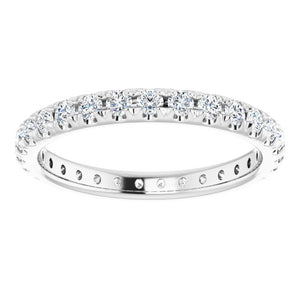 French Pavé Eternity Band in 14K
