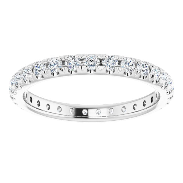 French Pavé Eternity Band in Platinum