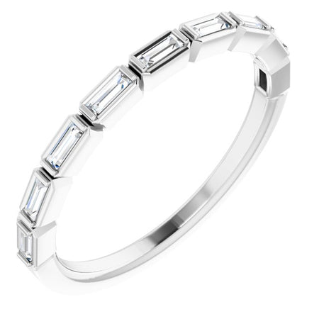 Bezel Set Baguette Band