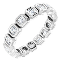 Load image into Gallery viewer, Bezel Set Asscher Eternity Band