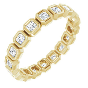Bezel Set Asscher Eternity Band