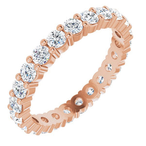 Classic Diamond Eternity Band in 18K
