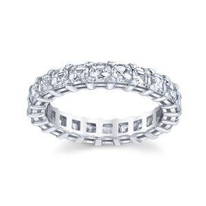 3.30 ct Asscher Cut Eternity Band in Platinum