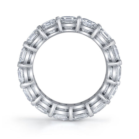 7.20 ct Asscher Cut Eternity Band in Platinum