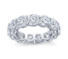 Load image into Gallery viewer, 7.75 ct Cushion Cut Eternity Band in Platinum