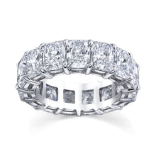 Load image into Gallery viewer, 7.00 ct Radiant Cut Eternity Band in Platinum