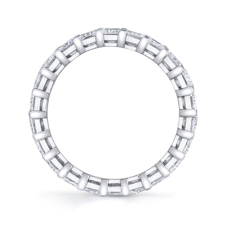4.10 ct Radiant Cut Eternity Band in Platinum