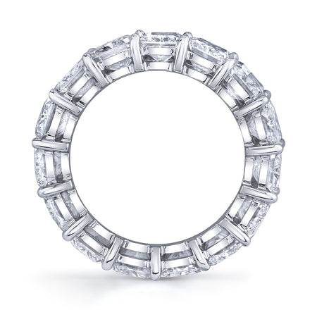 7.00 ct Radiant Cut Eternity Band in Platinum