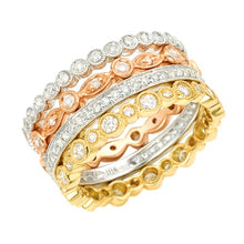 Load image into Gallery viewer, Milgrain Bezel Eternity Band in 18K Gold