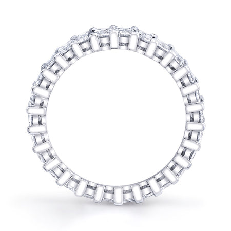 2.70 ct Emerald Cut Eternity Band in Platinum