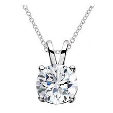 Load image into Gallery viewer, Classic Round Diamond Pendant