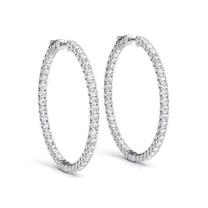 Diamond Eternity Hoop Earrings