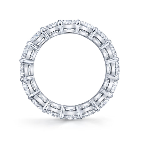 5.25 ct Oval Cut Eternity Band in Platinum