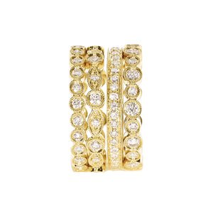 Milgrain Eternity Ring Stack