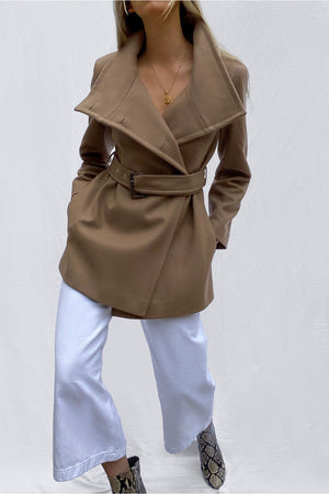 French Connection wool wrap coat