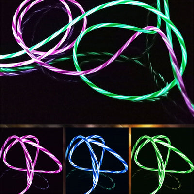 LED Glow USB Phone Charger Type C/Micro USB/Lighting