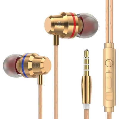 4D Metal Earphone Super Bass Headset HIFI DJ Earbuds with Microphone For Mobile Phone iPhone Xiaomi Samsung Huawei Auriculares
