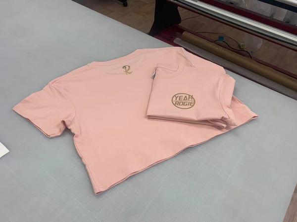 Yeah Rogie OG Crop Top - Peach/Pink