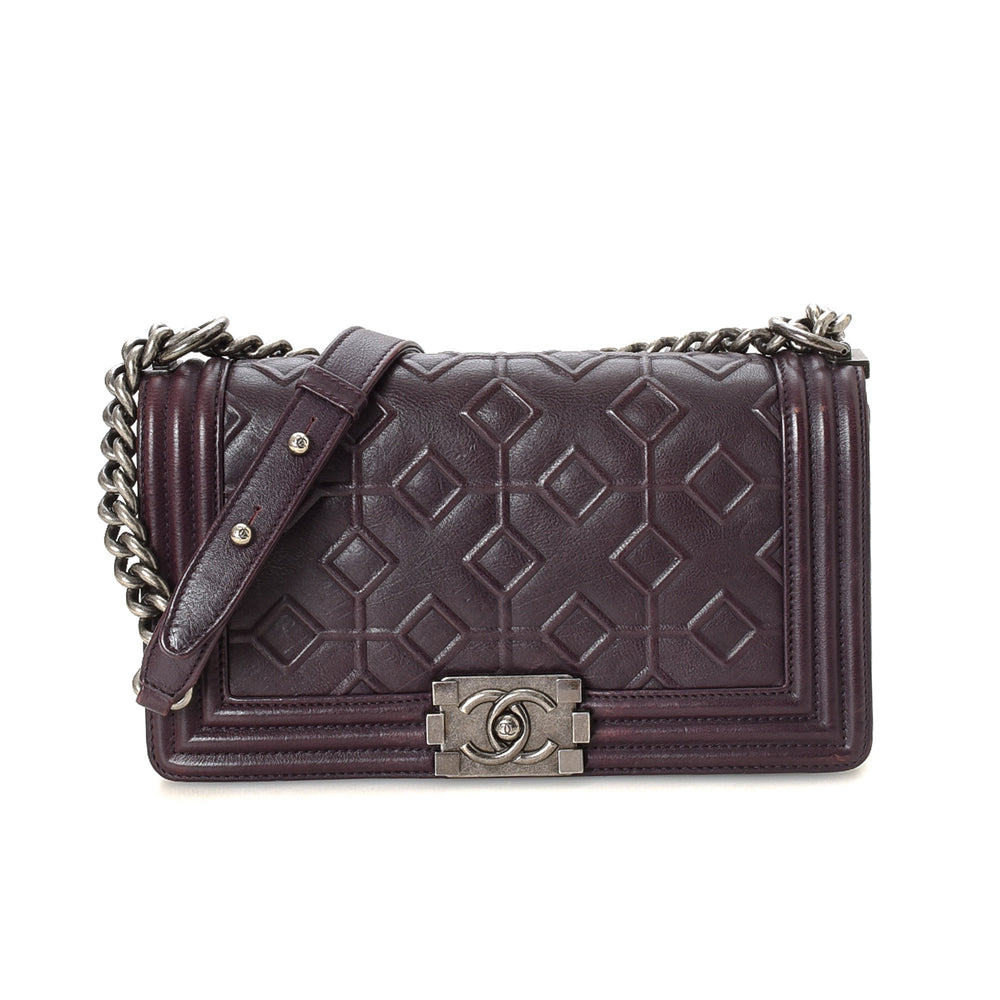 Chanel - Old Medium Boy Bag Embossed - 15652983373906