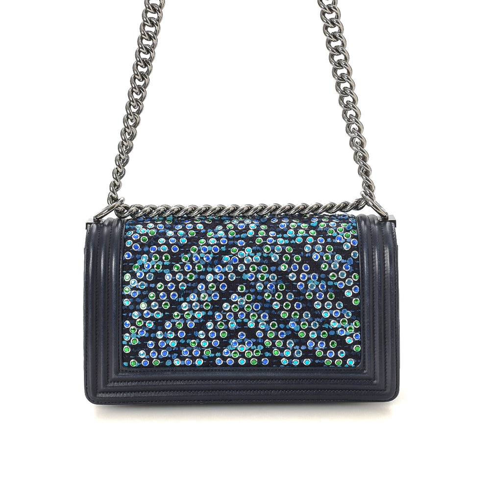 Chanel - Rhinestones Chevron Old Medium Boy Bag - 15015408959570