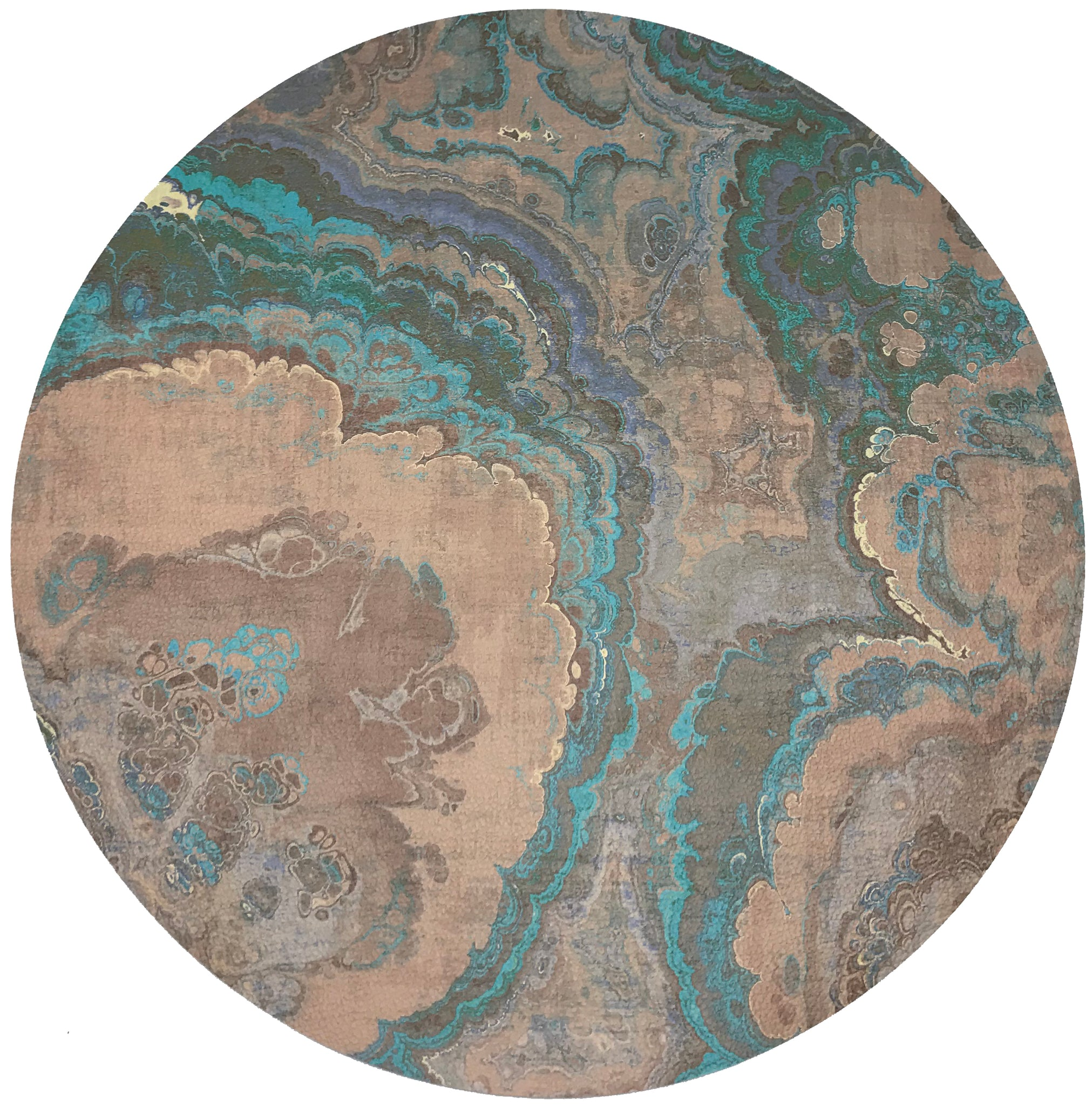 "AGATE CLAY 16"" ROUND PEBBLE PLACEMATS, SET OF 4 - nicolettemayer.shop"